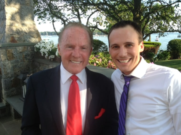 Frank Gifford with TODAY producer Kyle Michael Miller