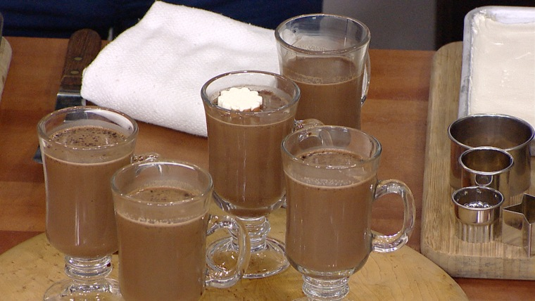 Justin Chapple makes frozen hot chocolate
