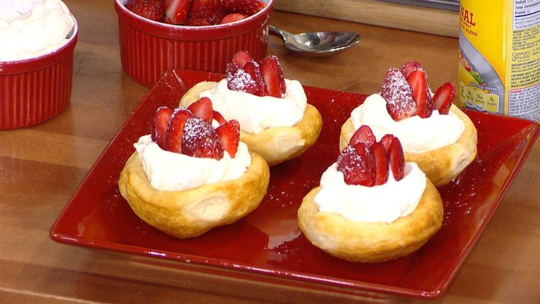Justin Chapple's strawberry cream biscuit bowl