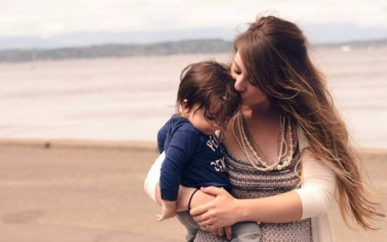 Danielle Campoamor and son