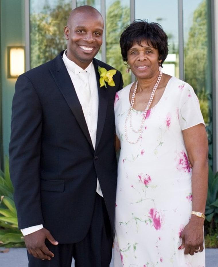 Doyin Richards with his mom.