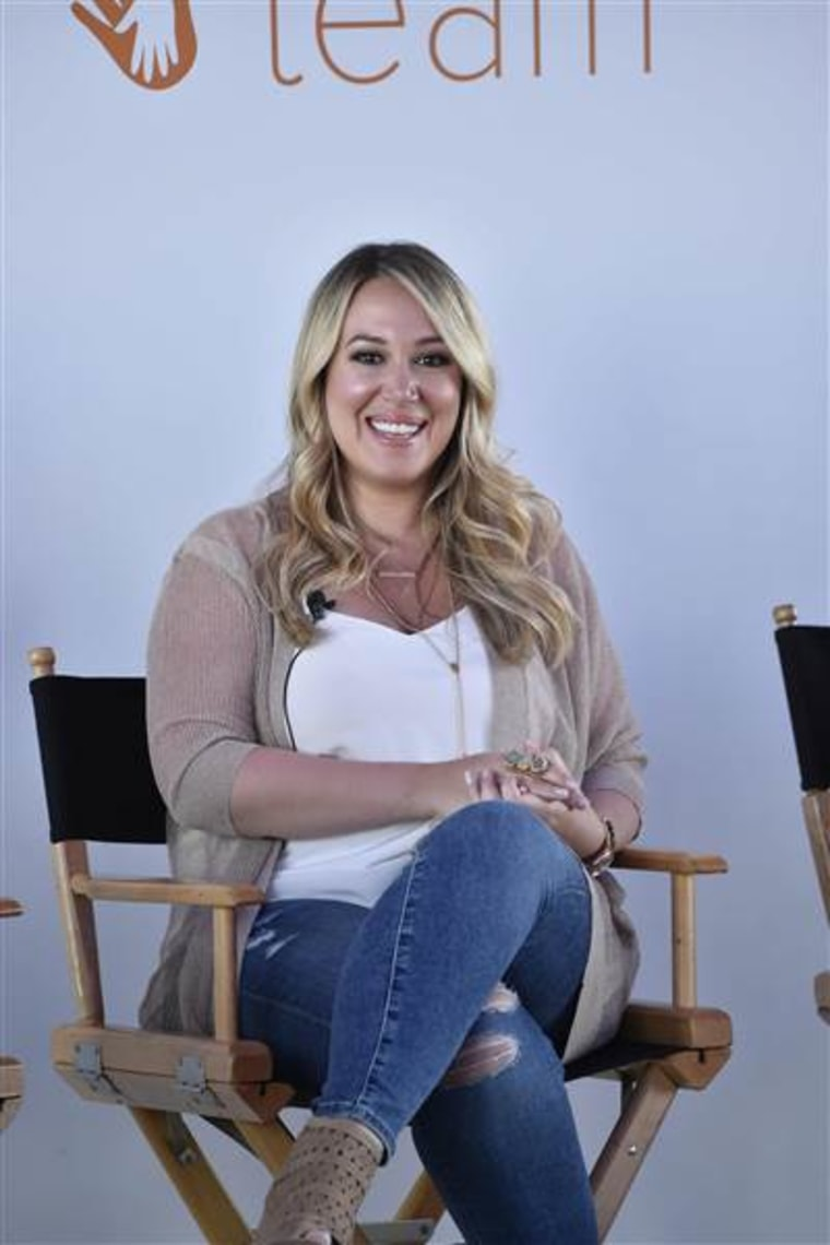 Haylie Duff at the TODAY Parenting Team panel discussion.