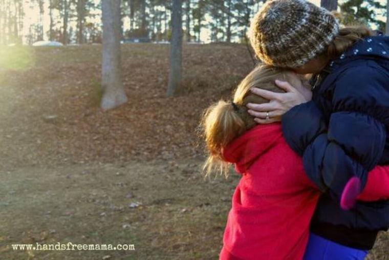 Rachel Macy Stafford with child