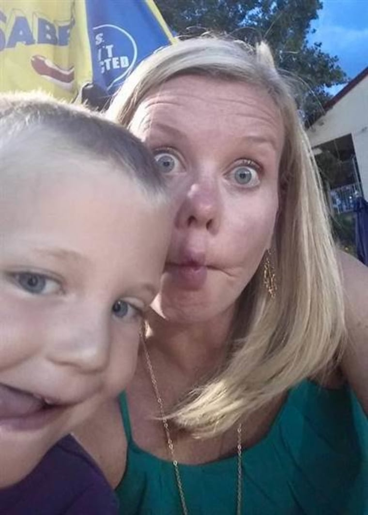 Jennifer Lizza being silly with kid
