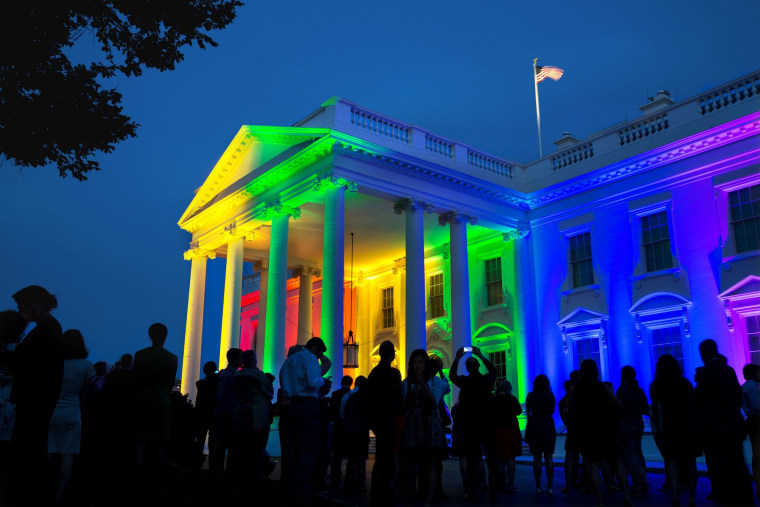 White House lit up in rainbow lights after Supreme Court ruling on same-sex marriage