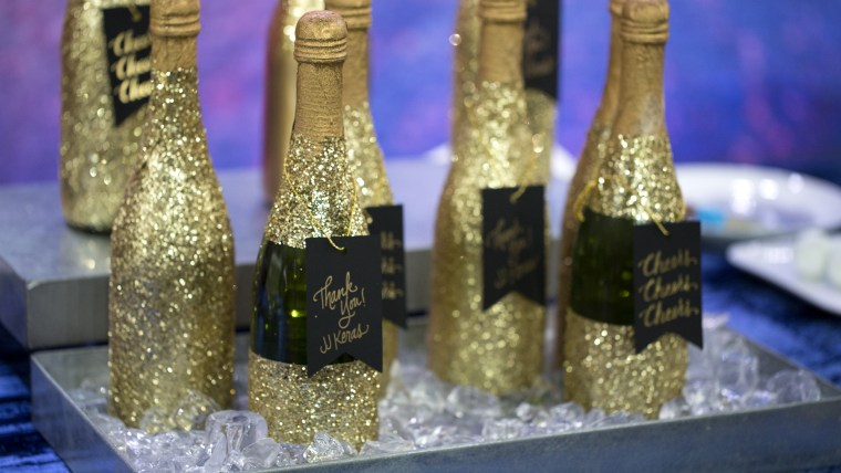 Throw a stylish New Year's Eve party with these easy last-minute ideas. Decorative Champagne Bottles.