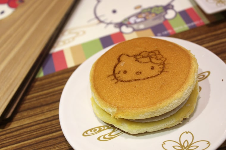 The food at Hello Kitty Shabu-Shabu is stamped with Hello Kitty's face.