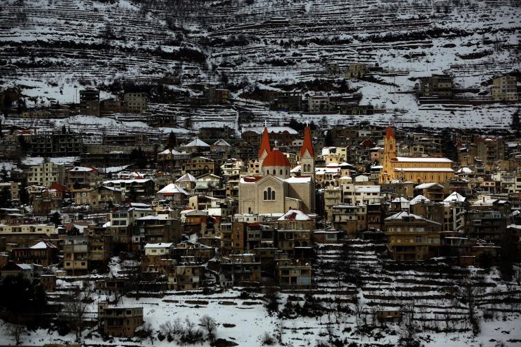 Image: LEBANON-RELIGION-CHRISTIANS-SNOW