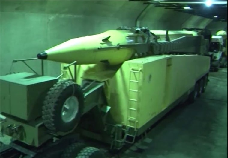 Pictures from an underground missile facility of the Islamic Revolution Guards Corps (IRGC) were released on Tuesday, after Parliament Speaker Ali Larijani paid a visit to the base.