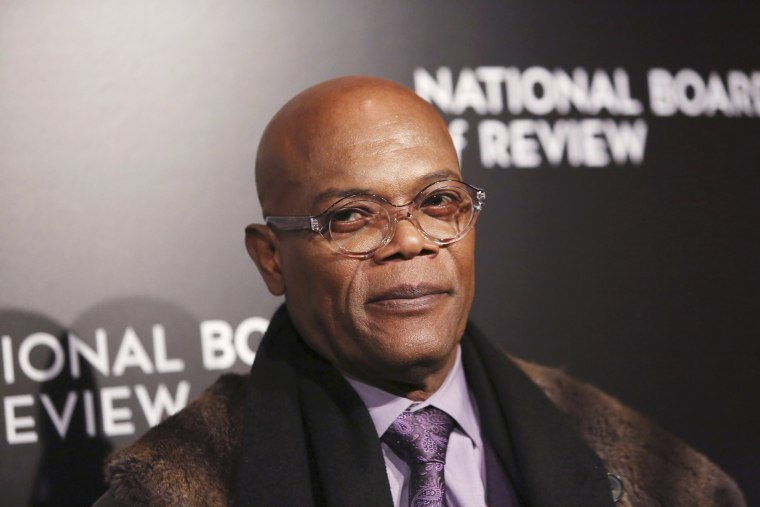 Image: Actor Samuel L. Jackson attends The National Board of Review Gala, held to honor the 2015 award winners, in the Manhattan borough of New York.