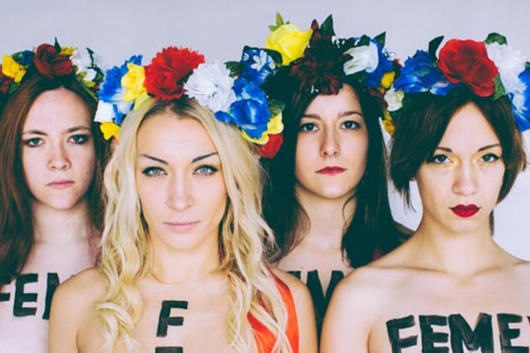 Image: Inna Shevchenko and other members of FEMEN