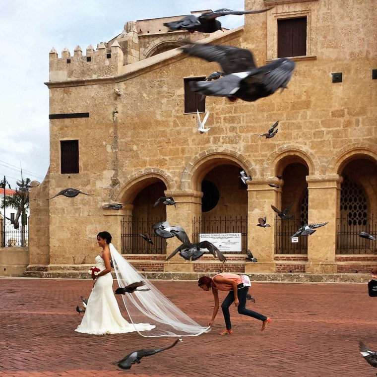 A bride in Santo Domingo, Dominican Republic