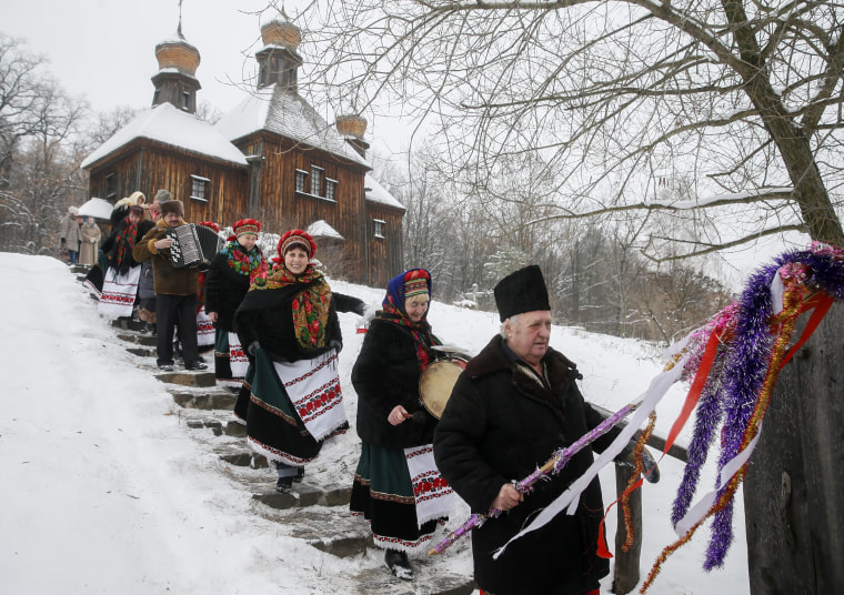 Image: Ukrainian believers celebrate the Orthodox Christmas Day