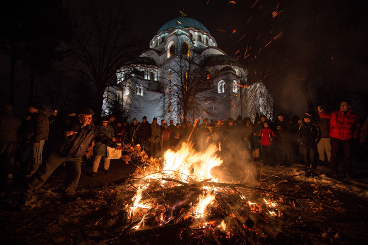 Image: SERBIA-RELIGION-ORTHODOX-CHRISTMAS-FEATURE