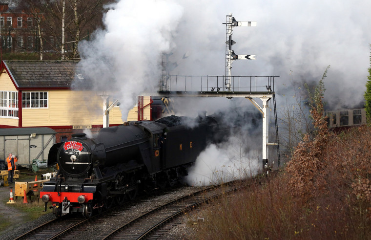 Image: The Flying Scotsman Takes To The Tracks Under Steam After An Extensive Restoration