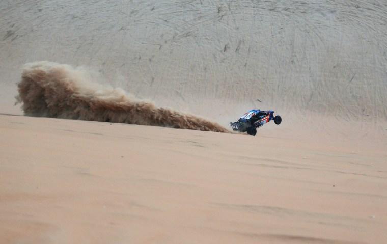 Image: TOPSHOT-UAE-MOREEB-DUNE-FESTIVAL-AUTO-RACING