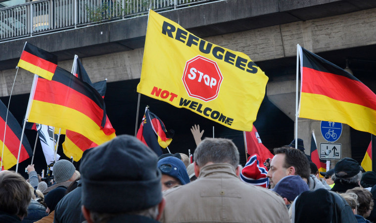 Image: GERMANY-EUROPE-MIGRANTS-DEMO