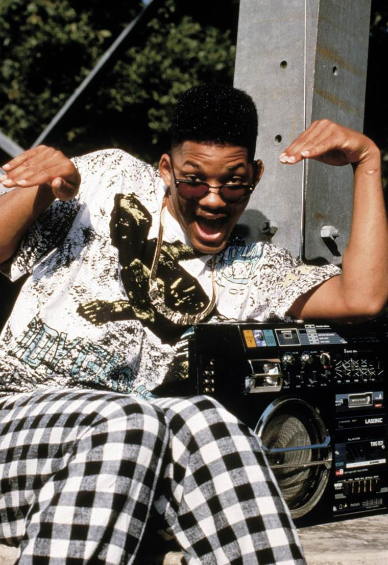 """Smith forayed into acting, starring in the hit show, \""""The Fresh Prince of Bel-Air,\"""" in which he played a streetwise teen from West Philadelphia sent to live with his well-to-do aunt and uncle. Smith was nominated for two Golden Globe Awards for his work on the show, which ran from 1990-1996."""