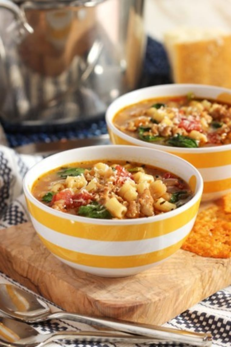 Italian sausage soup with white beans by TODAY Food Club member Kellie Hemmerly