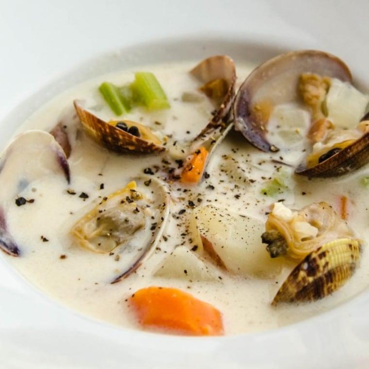 Manila clam chowder by TODAY Food Club member Susan Bradley