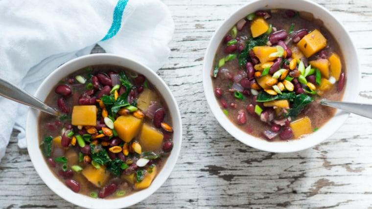 Butternut Squash & Kidney Bean Stew by TODAY Food Club member Rednailsgreenveggies