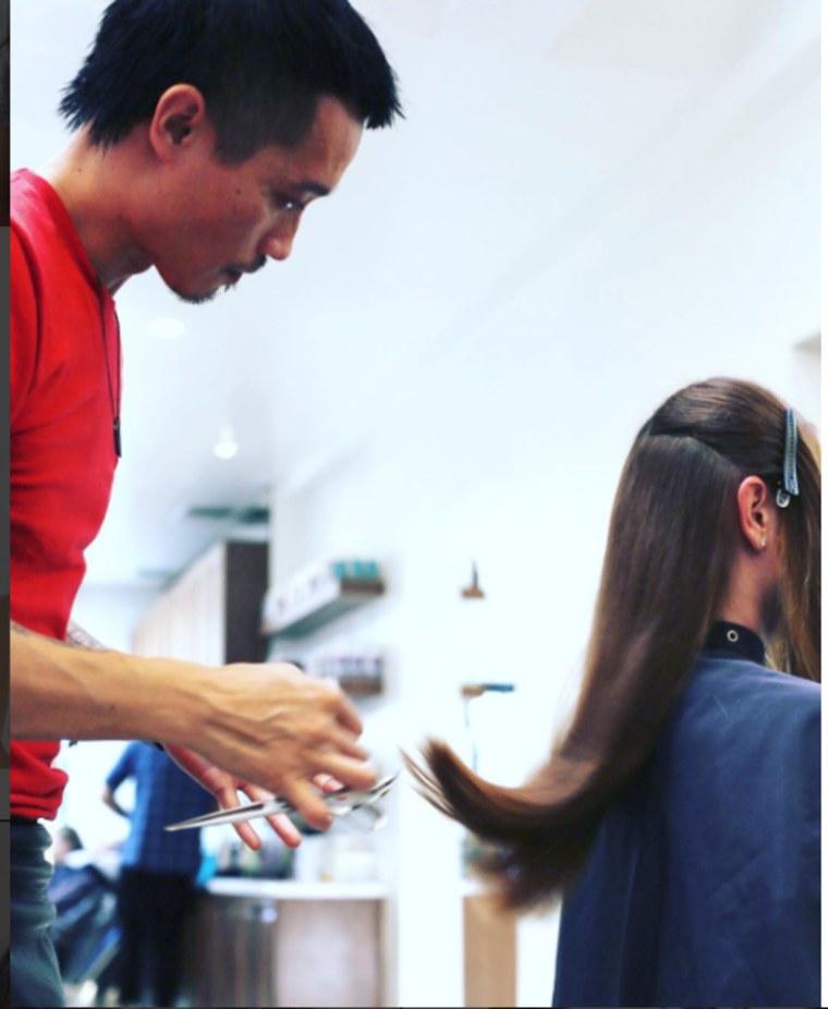 Dry cut hair trend