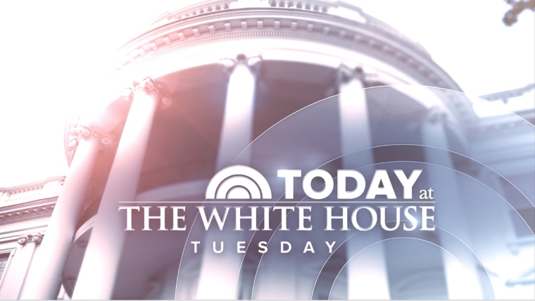 TODAY broadcasting from the White House Tuesday