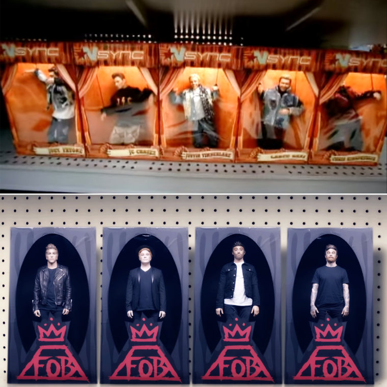 NSYNC tops Fall Out Boy in the doll wars? Watch the videos and decide for yourself.