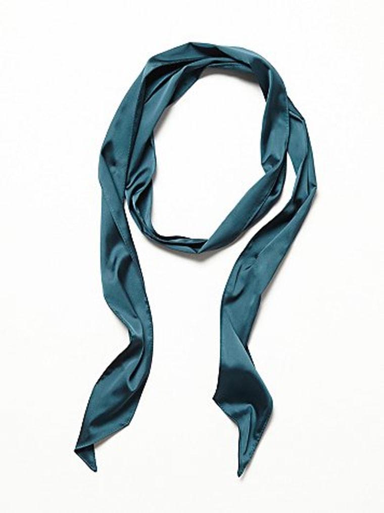 teal skinny scarf