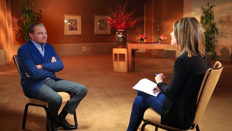 Leonardo DiCaprio sits down with TODAY's Savannah Guthrie.