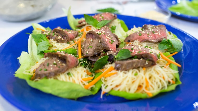Brandi Milloy's recipe for flank steak and Asian noodle salad