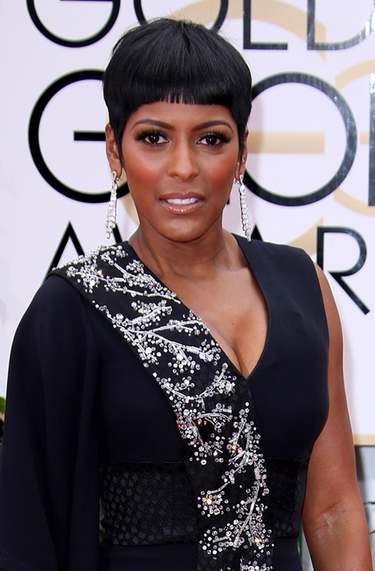 Tamron Hall at the 73rd Annual Golden Globe Awards.