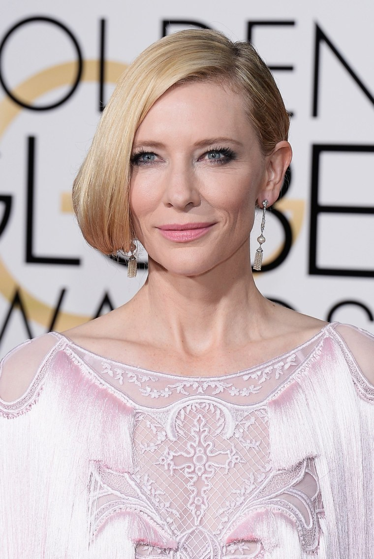 Cate Blanchett arrives to the 73rd Annual Golden Globe Awards