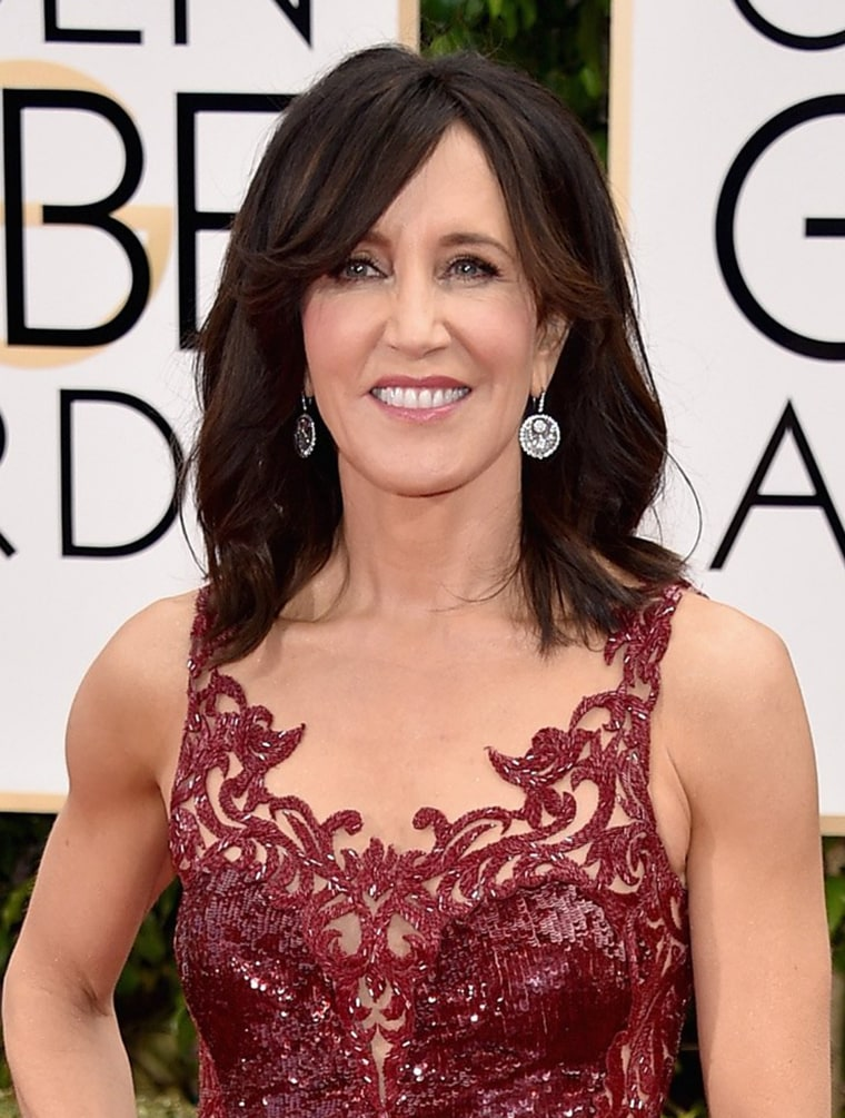 Felicity Huffman attends the 73rd Annual Golden Globe Awards