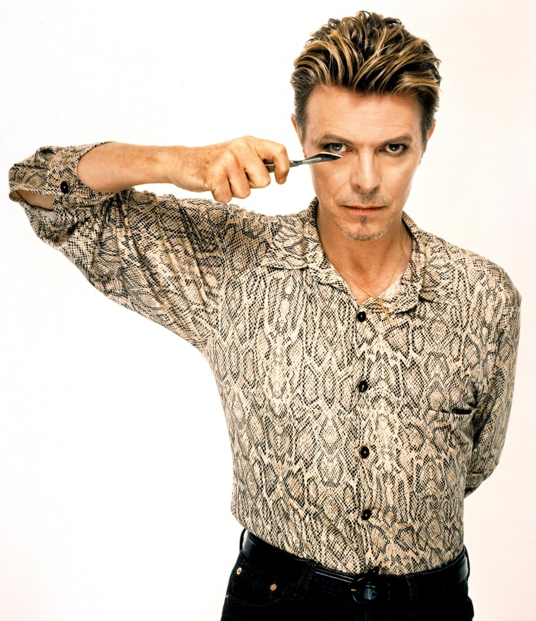Image: English musician, actor, producer and arranger David Bowie in London