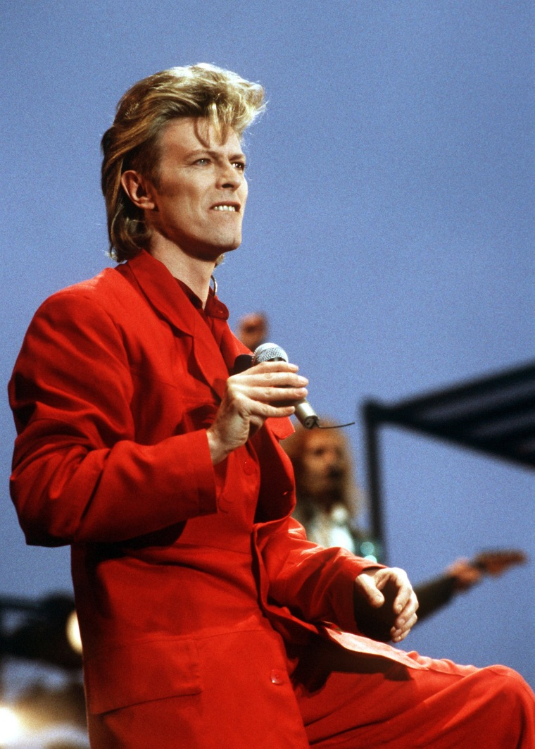 Image: Bowie performs in Hamburg, Germany on June 14, 1987.