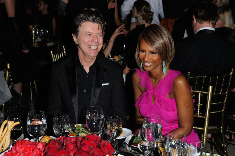 Image: Bowie and Iman attend a gala at Cipriani on April 28, 2011