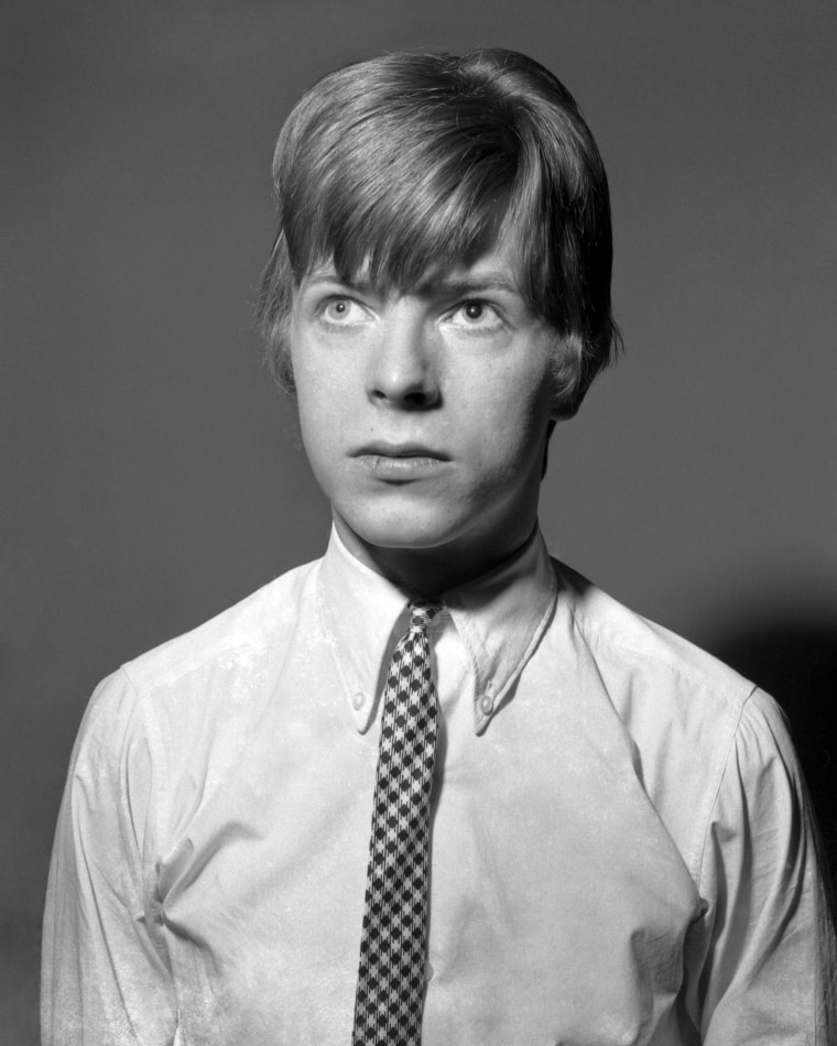 Image: David Bowie poses for a portrait in 1966 in London.