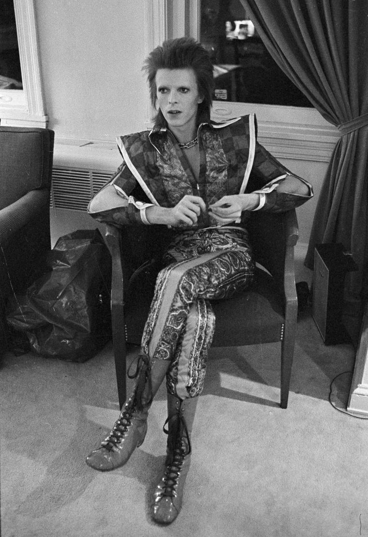 Image: Bowie in his Ziggy Stardust period in Philadelphia on Dec. 1, 1972.