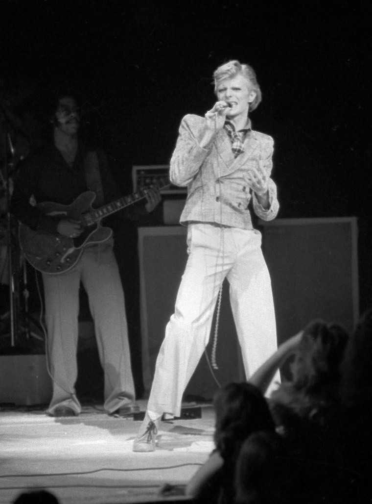 Image: Bowie performs at Radio City Music Hall in New York on Nov. 1, 1974.