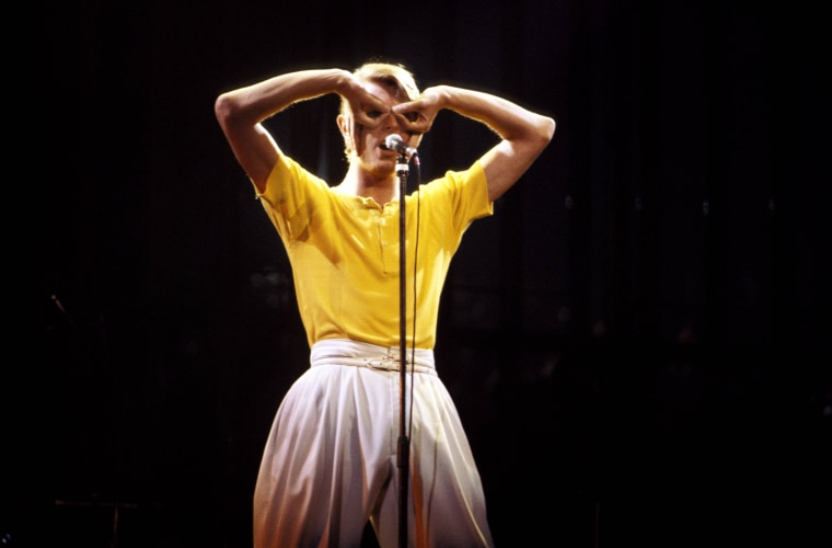 Image: Bowie performs on stage at Madison Square Garden as part of the Low/Heroes 1978 World Tour on May 1, 1978.