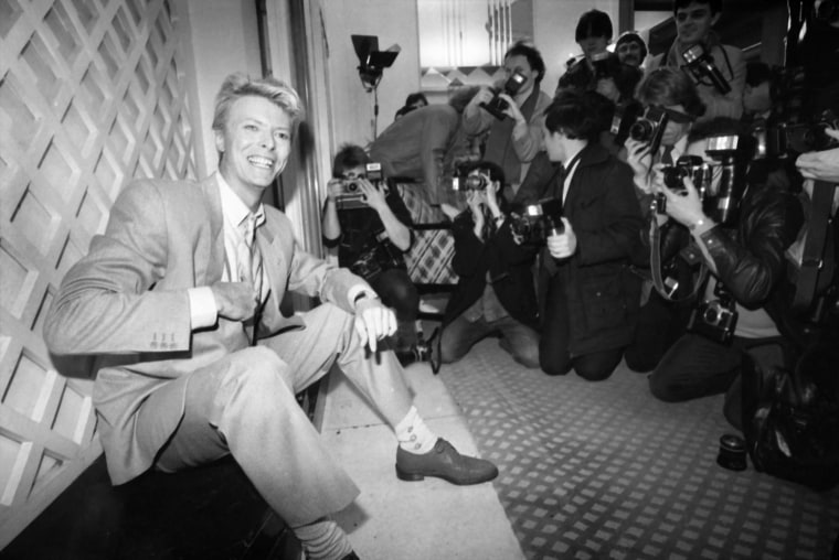 Image: Bowie attends a press photo call in London on March 17, 1983.