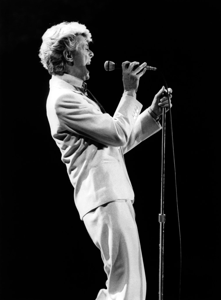 Image: Bowie performs on stage in Frankfurt, Germany on May 20, 1983.
