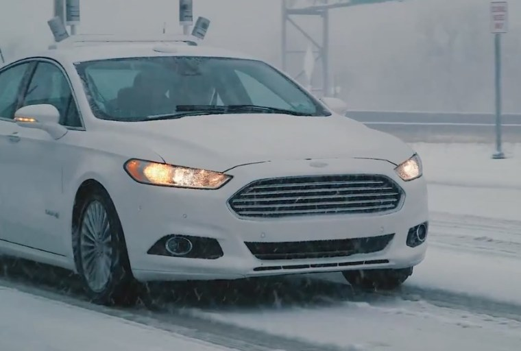 Ford Puts Its Driverless Cars on the Snowy Streets of Michigan