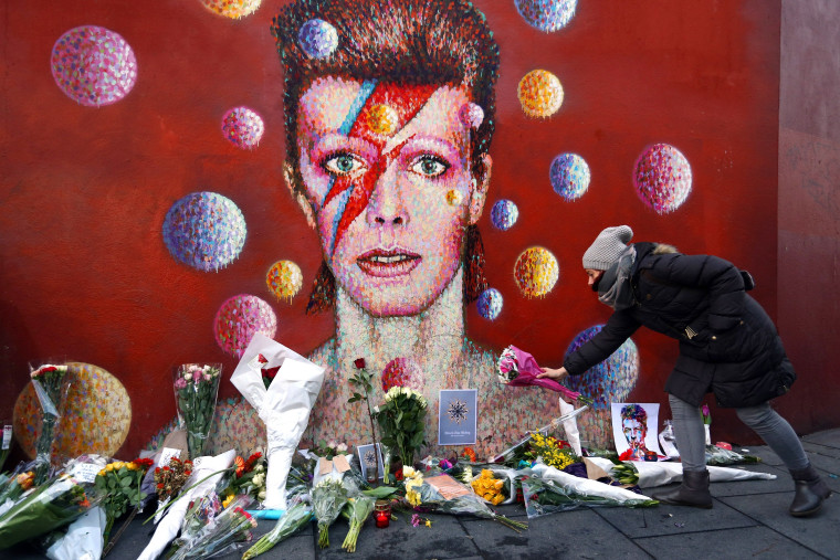 Image: BESTPIX Tributes Are Made After The Death Of Music Icon David Bowie