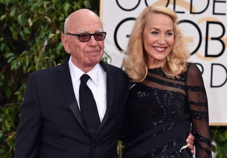 Image: Rupert Murdoch and Jerry Hall
