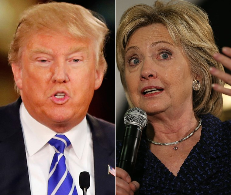 Image: Presidential candidates Donald Trump and Hillary Clinton