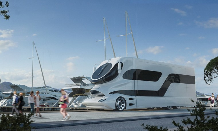 The EleMMent Palazzo RV has features befitting its $3 million price tag.