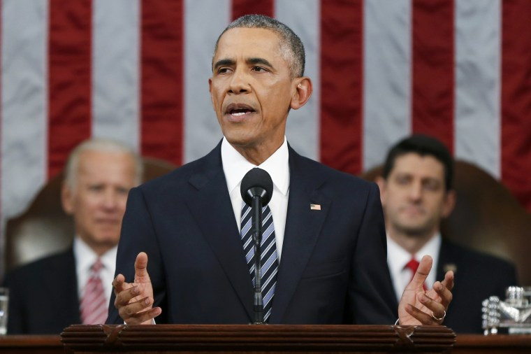Image: U.S. President Obama delivers State of the Union address to a joint session of Congress in Washington