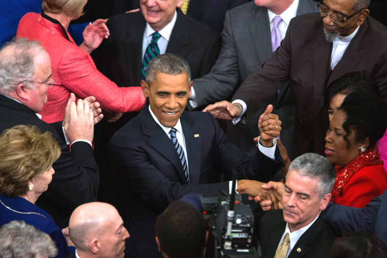Image: US President Obama delivers his last State of the Union address